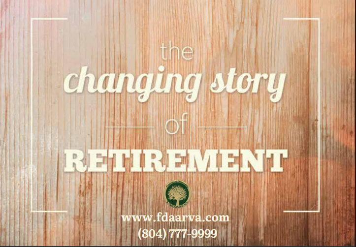 Changing story of retirement graphic
